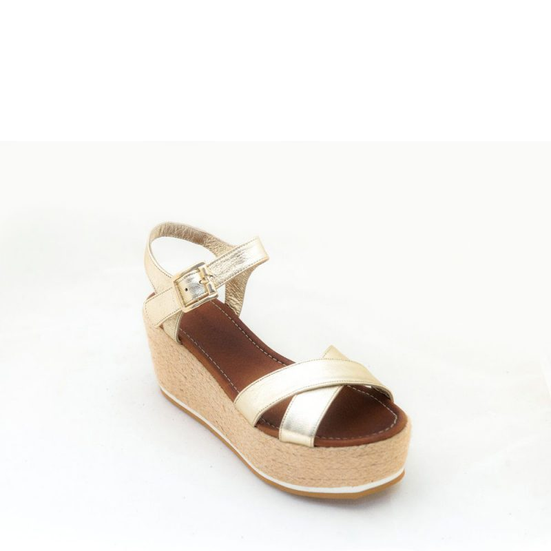 Komis Wedges Leather Gold