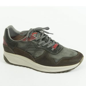 Sneakers Leather Brown-Grey