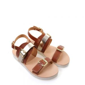 Venice Metallic Leather Sandals